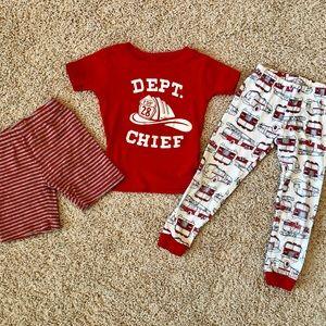5/$25, 2 sets of Carter's boys pajamas